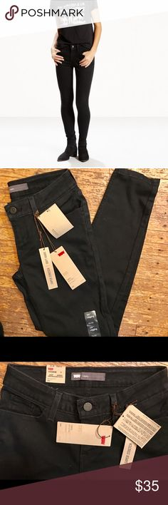 "NWT Levi's 535 Ultra Low-Rise Leggings 3S 26x28 Brand new with tags - Levi 535 leggings in ""soft black""! Super slimming and comfy jean leggings by Levi. Selling because I bought the wrong size. I own a pair of these and they're fabulous - they look like jeans but you can live in them, so comfortable. Offers welcome. Levi's Jeans Skinny"