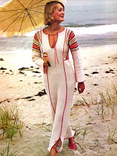 Vintage 1970s Crochet Pattern Crocheted Boho Maxi Dress Tunic PDF. $4.50, via Etsy.