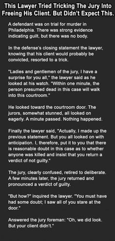 This Lawyer tried tricking the jury into freeing this man! OMG read what happens