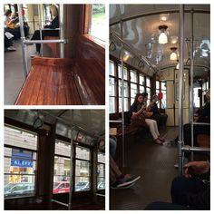 En train de faire un tour dans l'historique tram #1 de #Milan #BlogVille #InLombardia - Instagram by moimessouliers