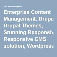Enterprise Content Management, Drupal Themes, Stunning Responsive CMS solution, Wordpress Theme Development, Drupal CMS