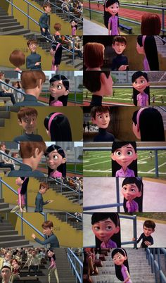 Theses Are The Scenes From The Incredibles Comparing With Incredibles 2 Where Tony Meets Violet At The Track and Ask Her Out To The Movies on Friday. The Incredibles - Violet and Tony Scenes Disney Pixar, Walt Disney, Disney Jokes, Best Disney Movies, Pixar Movies, Disney Fan Art, Disney Animation, Disney And Dreamworks, Animation Film
