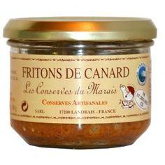 Fritons de canard 180 gr - rilettes de canard à la tomate et au vin blanc - consommer froid ou sur toast chaud en entrée - 4.31€