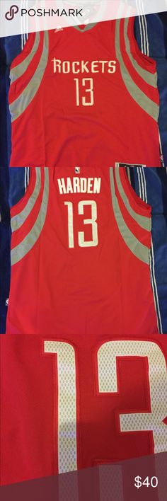 87c981f6aeb James Harden  13 Red throwback swingman jersey 100% authentic brand new  with tag