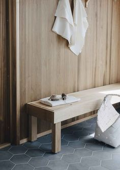 Saunapojat Nikkonen, Talo Lintula, Asuntomessut Pori Terrazzo, Timber Wall Panels, Sauna Design, Sauna Room, Interior Architecture, Interior Design, Warm Home Decor, Saunas, Wood Interiors