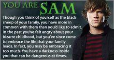 Fuck, I'm Sam. No wonder he's my least favorite.