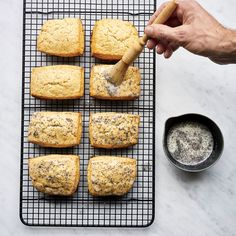 These best-ever lemon–poppy seed scones get flavor from plenty of fresh lemon juice and zest. Get the recipe at Food & Wine.