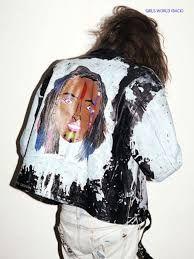 Resultado de imagen de vintage painted jacket 1940s