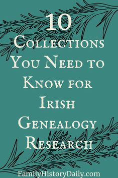 Irish Genealogy Research: The 10 Best Online Collections Irish Genealogy Records: When you are ready to cross the pond and research your Irish ancestors, don't forget to take this list of important online family history collections with you. Genealogy Sites, Genealogy Research, Family Genealogy, Free Genealogy, Genealogy Forms, My Family History, Women's History, British History, Ancient History