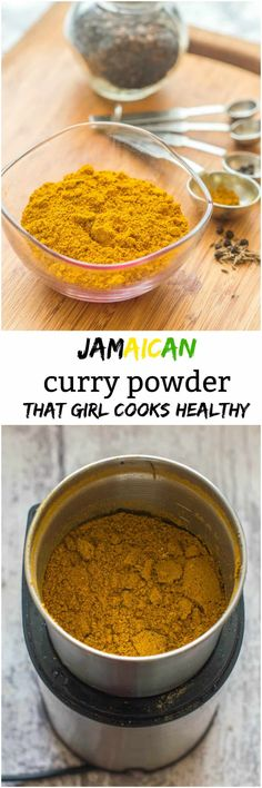 Jamaican curry powder - That Girl Cooks Healthy Jamaican Curry Powder, Homemade Curry Powder, Jamaican Recipes, Curry Recipes, Guyanese Recipes, Jamaican Dishes, Caribbean Recipes, Caribbean Food, Curry Spices