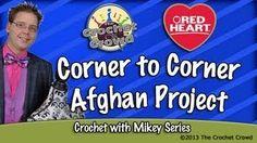 how to crochet the corner to corner afghan - YouTube