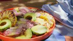 Learn how to make a summery 3-Ingredient Grilled Steak, Pineapple, and Avocado Salad!