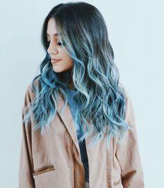 Niki DeMartino blue hair