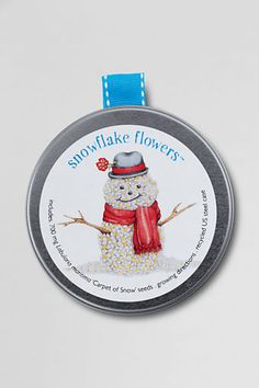 Building snowmen is fun, but you can also look forward to spring flowers! #WishPinWin    Kids' Gardening Ornaments. Use as an ornament now, plant seeds with kids in the spring. $12