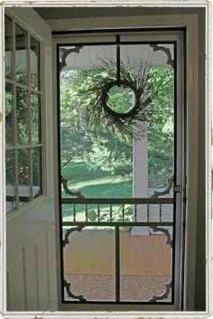 Enjoying a warm breeze through the screen door . . .