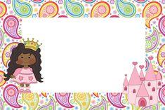 Princesa Afro - Kit Completo com molduras para convites, rótulos para…