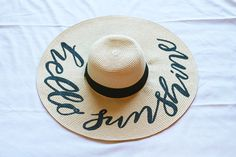 DIY Hand Lettered Sun Hat