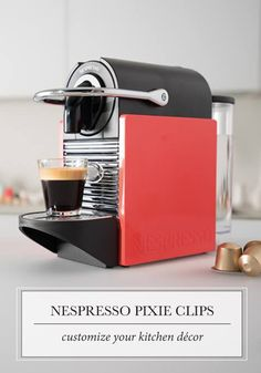 Finish off your modern kitchen design with the perfect espresso gadget—Nespresso Pixie Clips. They make it easier than ever to customize your coffee bar!
