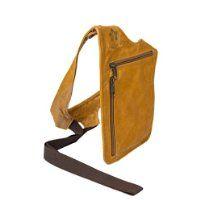 BALILOCA women's handsfree leather shoulder bag purse: wild honey