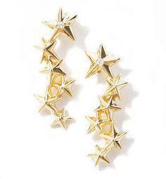 Star earrings / エテ スター ピアス shopstyle.co.jp