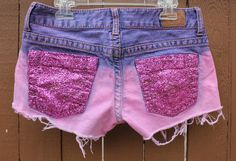 Pink Sparkly Shorts! I might just be a bit too old for these now but oh well, if at least10 lbs came off I'd totally rock 'em!