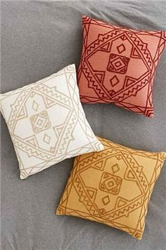 Magical Thinking Roya Crewel Tonal Pillow - Urban Outfitters