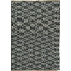@Overstock.com - Blue Diamond Jute Rug (6' x 9') - A unique print accentuates this beautiful jute rug. This rug features a durable construction in shades of blue and cream.  http://www.overstock.com/Home-Garden/Blue-Diamond-Jute-Rug-6-x-9/6593202/product.html?CID=214117 $115.59