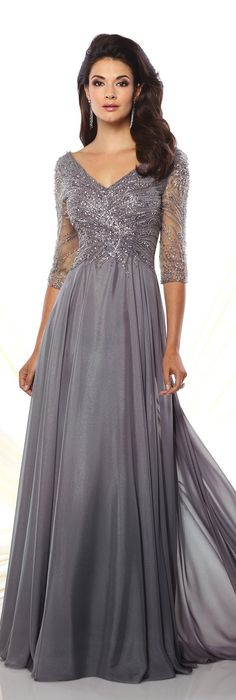 Diamond chiffon a-line gown - montage by mon cheri 116950 ve Evening Dresses With Sleeves, Mob Dresses, A Line Prom Dresses, Bridal Dresses, Bridesmaid Dresses, Tunic Dresses, Flapper Dresses, Beach Dresses, Homecoming Dresses