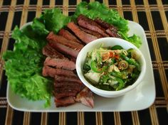 Grilled Beef with Pahok Sauce/Salad