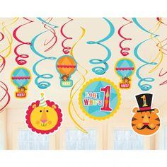 Fisher Price Circus 1st Birthday Swirl Decorations