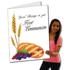 2'x3' First Communion Card W/Envelope (Special Blessings) - Huge Greeting Card VictoryStore http://www.amazon.com/dp/B00CXXG8J4/ref=cm_sw_r_pi_dp_4fw.wb16VPS7Y