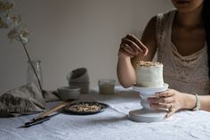 hummingbird cake with coconut buttercream by Two Red Bowls, via Flickr