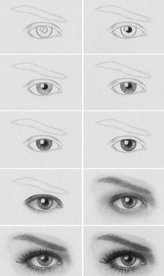 Realistic eye shading