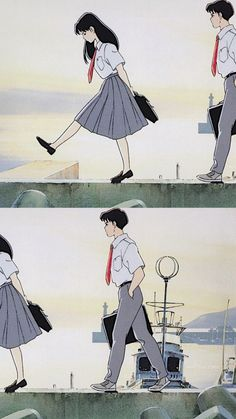 Studio Ghibli Art, Studio Ghibli Movies, Animes Wallpapers, Cute Wallpapers, Old Anime, Anime Couples Manga, Animation, Anime Scenery, Cartoon Wallpaper