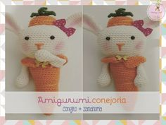 Monkey Craft: Amigurumi conejito zanahoria: Conejoria!!!!