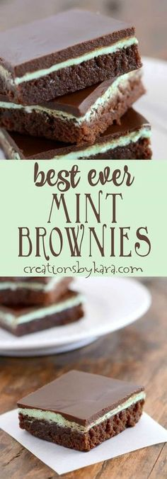 Recipe for mint brownies with a creamy mint frosting and chocolate topping   #mintbrownies  #brownies