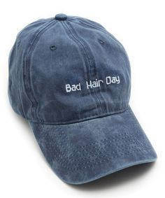 Take a look at this Steve Madden Denim 'Bad Hair Day' Baseball Cap today!