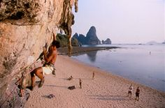 Railey Beach, Thailand--Rock Climbing on the Beach??? Does it get it any better?