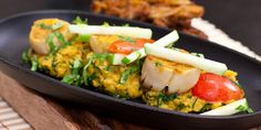 This brilliant curried scallops recipe from Shaun Rankin prepares the scallops in some amazing spices. The scallops are paired with a delicious dhal. Shellfish Recipes, Seafood Recipes, Indian Food Recipes, Ethnic Recipes, Clam Recipes, Bariatric Recipes, Healthy Recipes, Pureed Recipes, Pureed Food