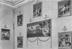 Some of the 17 Chinese paintings hung in the bedroom of the 5th Lord Leigh's sister at Stoneleigh Abbey, Warwickshire, in 1765. They were sold from the house in 1981.