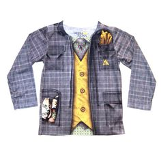 Sierra Julian Iacopo Necktie Vest Blazer Top