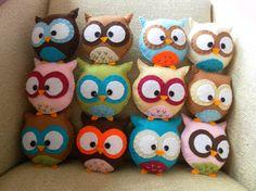 Custom Mini Plush Owl Toy by HollyGoBrightly on Etsy, £7.00