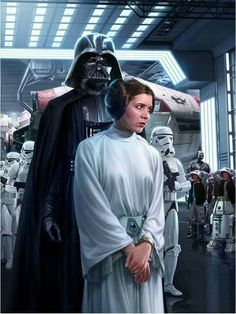 "Princess Leia Organa is brought aboard the ""Avenger"" over Tatooine."