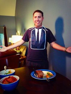 Get your bro on with the Brobib inspired by How I Met Your Mother #HIMYM #barneystintson #brocode #legendary #bro #bib