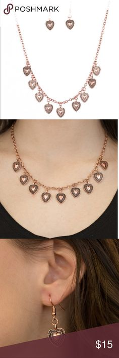 Lost in the Moment Necklace Set See pic. Lead and nickel free. Perfect for Valentine's Day! Jewelry