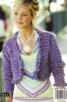 Catherine Wilson: FREE ELEANOR SHRUG PATTERN (crochet) •✿• Teresa Restegui http://www.pinterest.com/teretegui/ •✿•