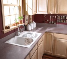 Swanstone Drop In Kitchen Sink Via Swanstone.com