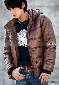 Brown Quilted Warm Uni-Sex Jacket From Korean Fashion Collection