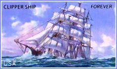 Clipper ShipUNITED STATES - CIRCA 2011: stamp printed by United States of America, shows Clipper ship, circa 2011