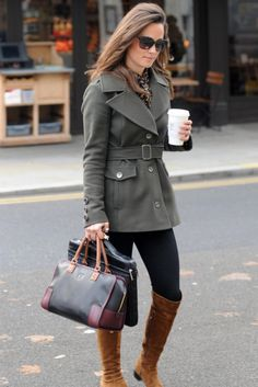 Gray Coat with Brown Boots =)